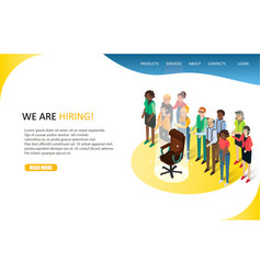 business hiring landing page website vector image