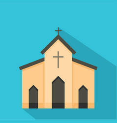 Chapel icon flat style vector