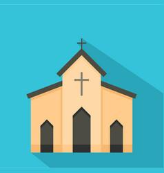 Chapel icon flat style vector