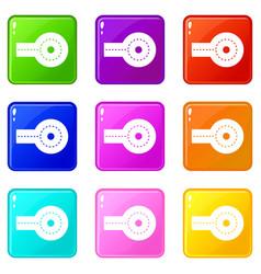 Circular impasse icons 9 set vector