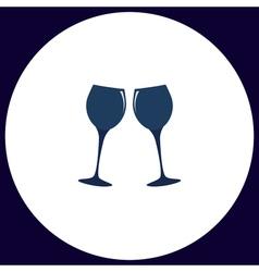 clink glasses computer symbol vector image