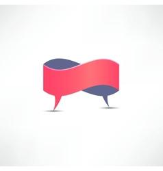 Dialogue Speech bubble vector image