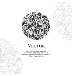 emblem can be used for jewelry beauty vector image