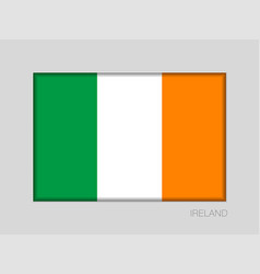 Flag of ireland national ensign aspect ratio 2 to vector