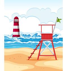 flat design of summer beach vector image