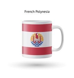 French Polynesia flag souvenir mug on white vector