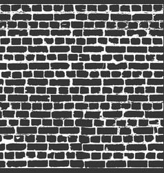 gray bricks in worn out brick wall seamless vector image