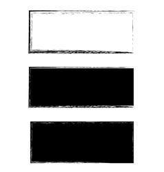 Grunge black frame background set vector