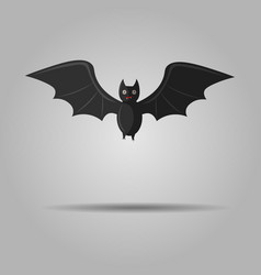 halloween flying bat isolated on gray background vector image