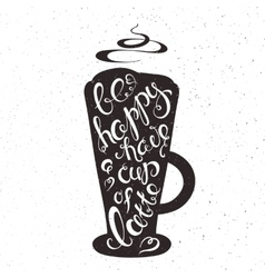 Hand drawn printable cup of vector