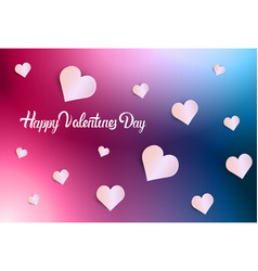 happy valentines day background greeting card vector image
