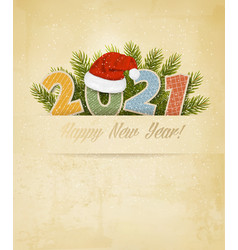 holiday christmas and new year background vector image