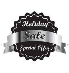 Holiday special discount tag special offer price vector