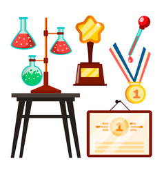 icons scientists discovery study isolated vector image