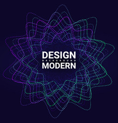 impulse visualization abstract album music vector image