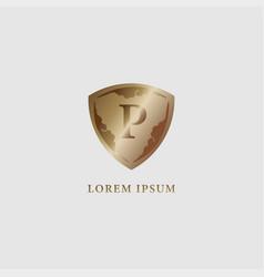 Letter p alphabet logo design template luxury vector