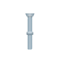 Mechanic bolt with nut isolated icon vector