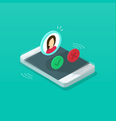 Mobile phone ringing vector