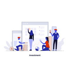 Modern flat design concept - investment vector