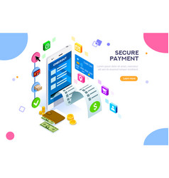 payments protection vector image