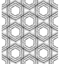 pointillism style hexagonal pattern vector image