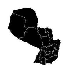 political map of paraguay vector image