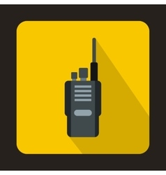 Portable radio transceiver icon flat style vector image