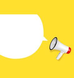 realistic 3d simple white megaphone vector image