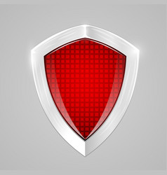 red metal shield protection concept vector image