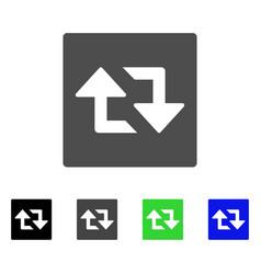 Refresh arrows flat icon vector