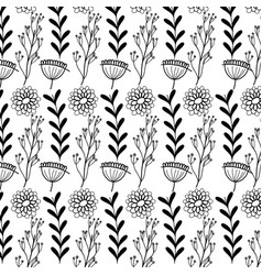 Rustic natural flowers with branches background vector