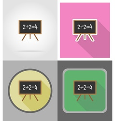 school education flat icons 05 vector image