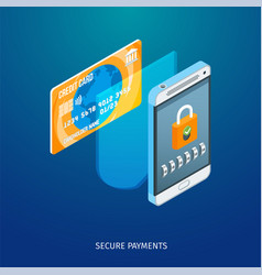 secure payments concept vector image
