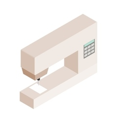 Sewing machine isometric 3d icon vector