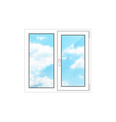 small window on a white background vector image