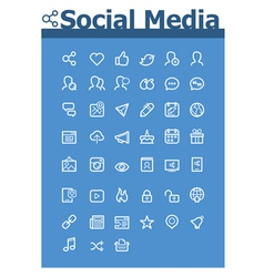 Social media icon set vector