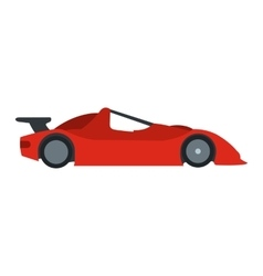 Speeding race car flat icon vector
