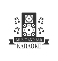 Stage Speaker And Music Notes Karaoke Premium vector image