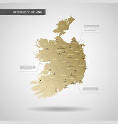 stylized republic of ireland map vector image