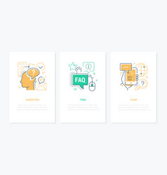 technical support - line design style banners set vector image