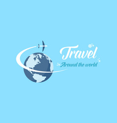 Travel on blue backgorund style vector