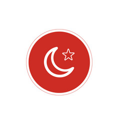 Turkey flag symbol icon in circle stock isolated vector