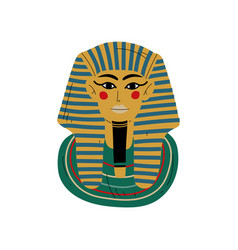 tutankhamun burial mask pharaoh ancient egypt vector image