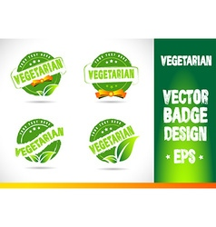 Vegetarian Badge vector image