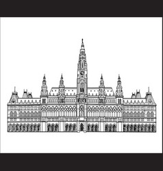 Vienna city famous landmark city hall palace vector