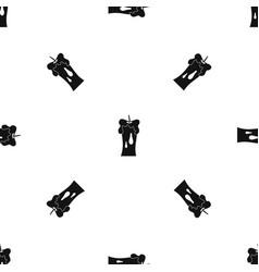 Waxen candle pattern seamless black vector