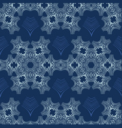 white on blue snowflake texture seamless vector image