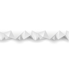 white polygonal seamless divider vector image