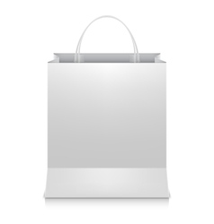 White Shopping Bag vector image