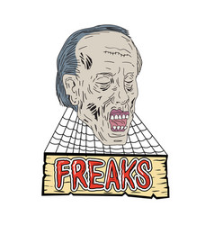 zombie freaks cobwebs drawing vector image